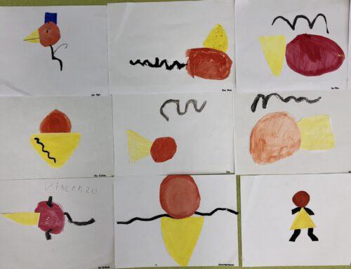 Die Klasse 1a auf den Spuren von Joan Miró